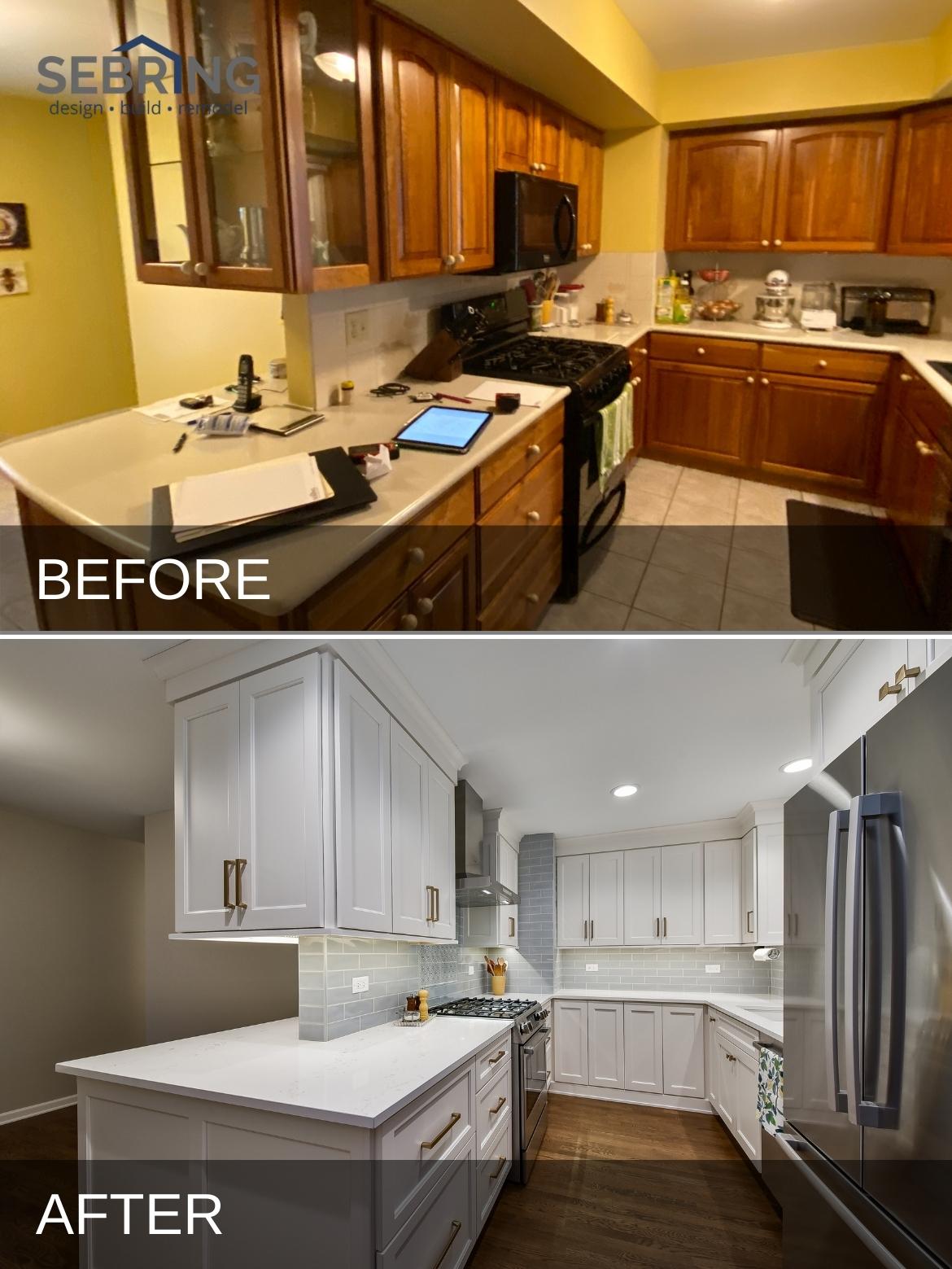 Glen Ellyn Kitchen Remodel Before and After 1