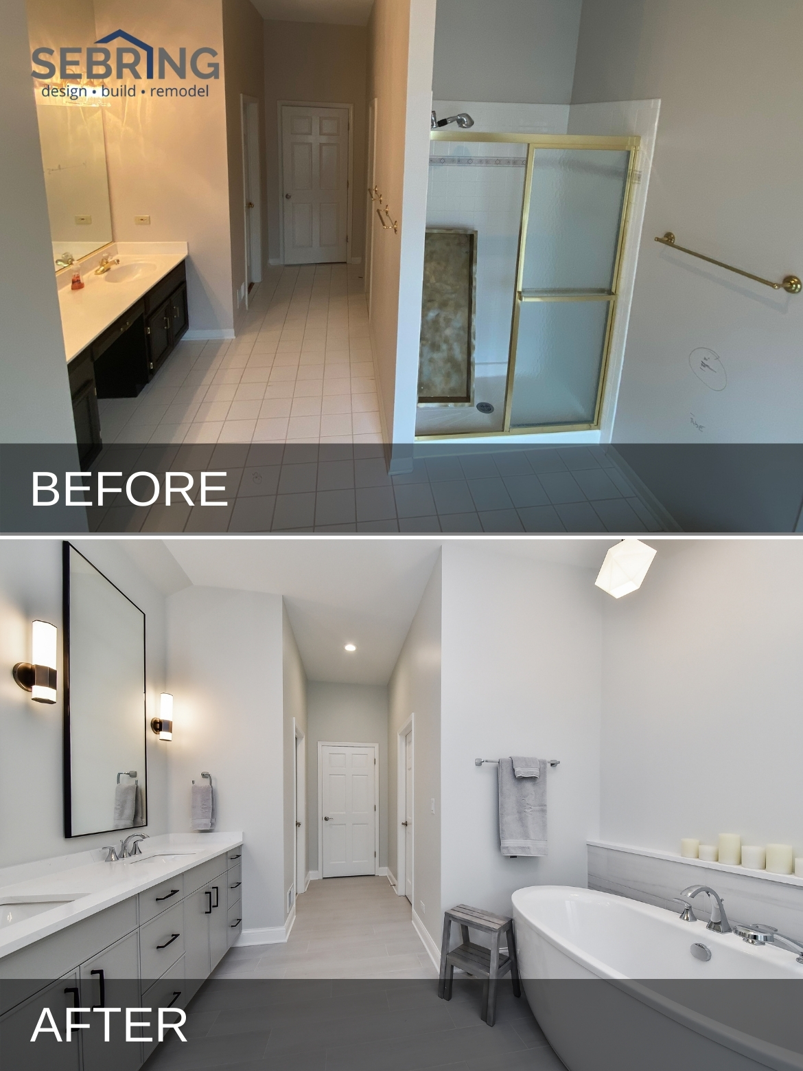 Naperville Master Bathroom Before And After