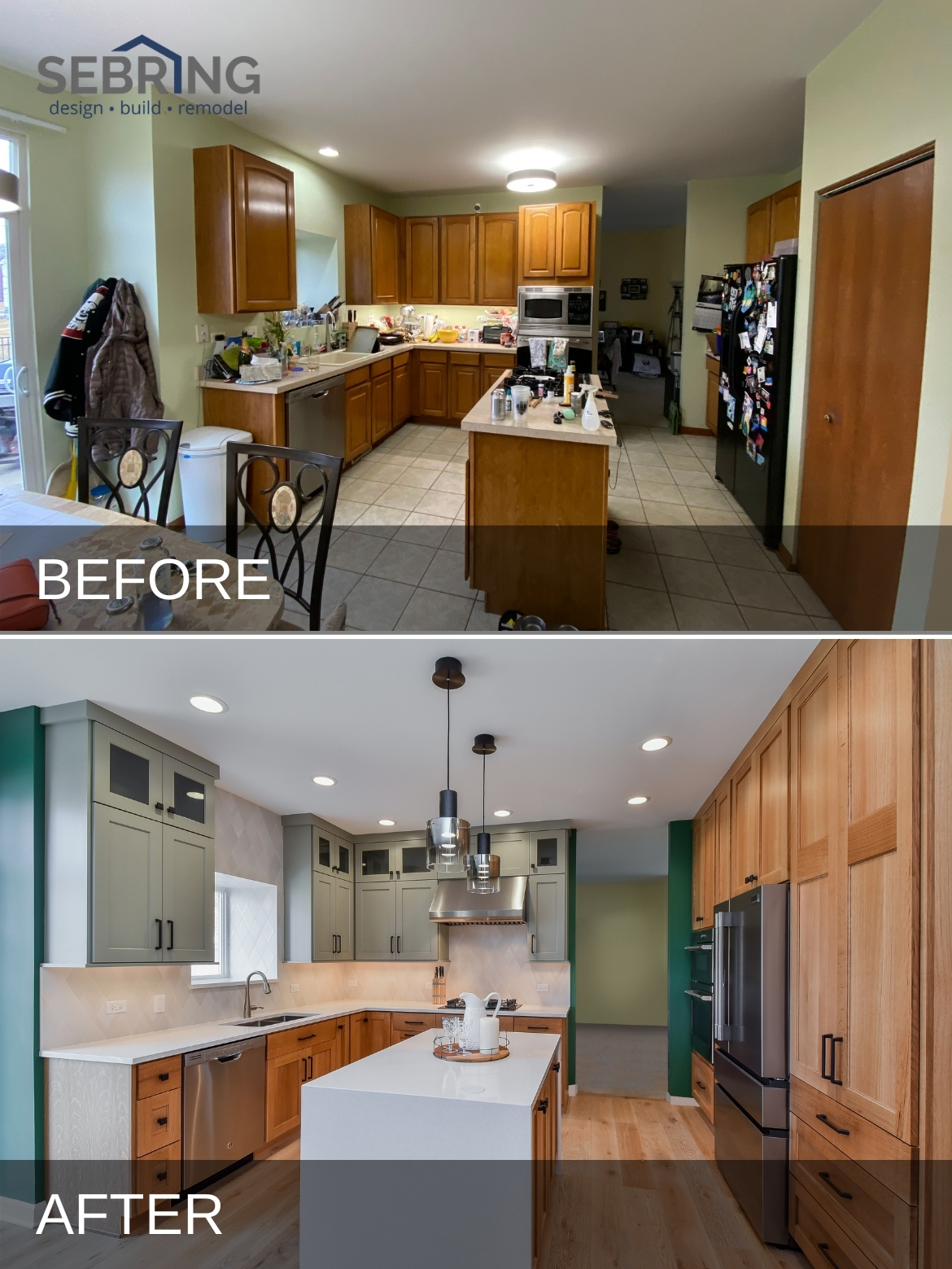 Bollingbrook Kitchen Before and After