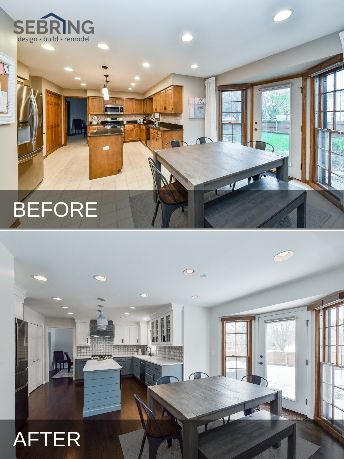 Naperville Farmhouse Kitchen Before and After