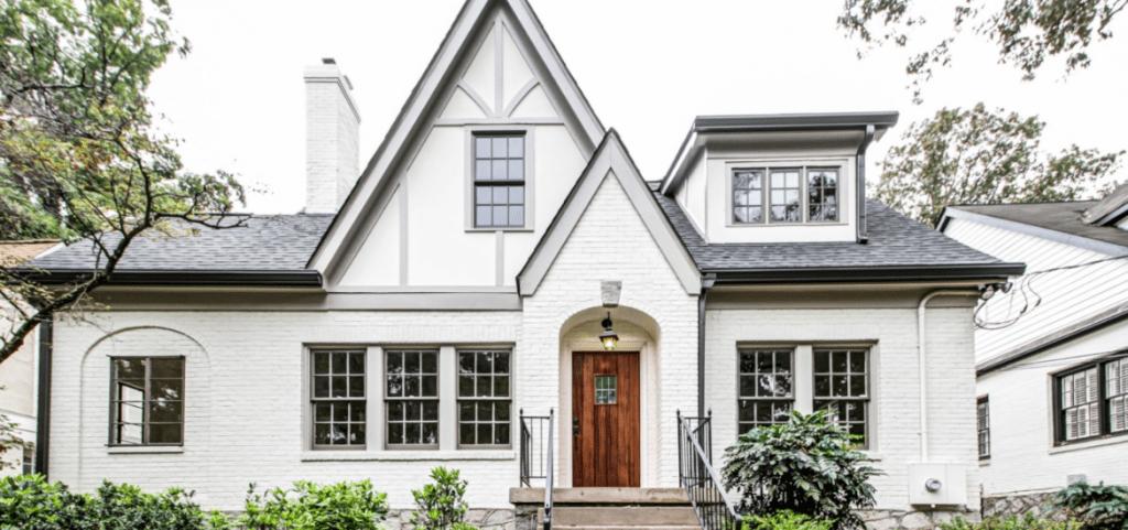 white-painted-brick-house-design-ideas