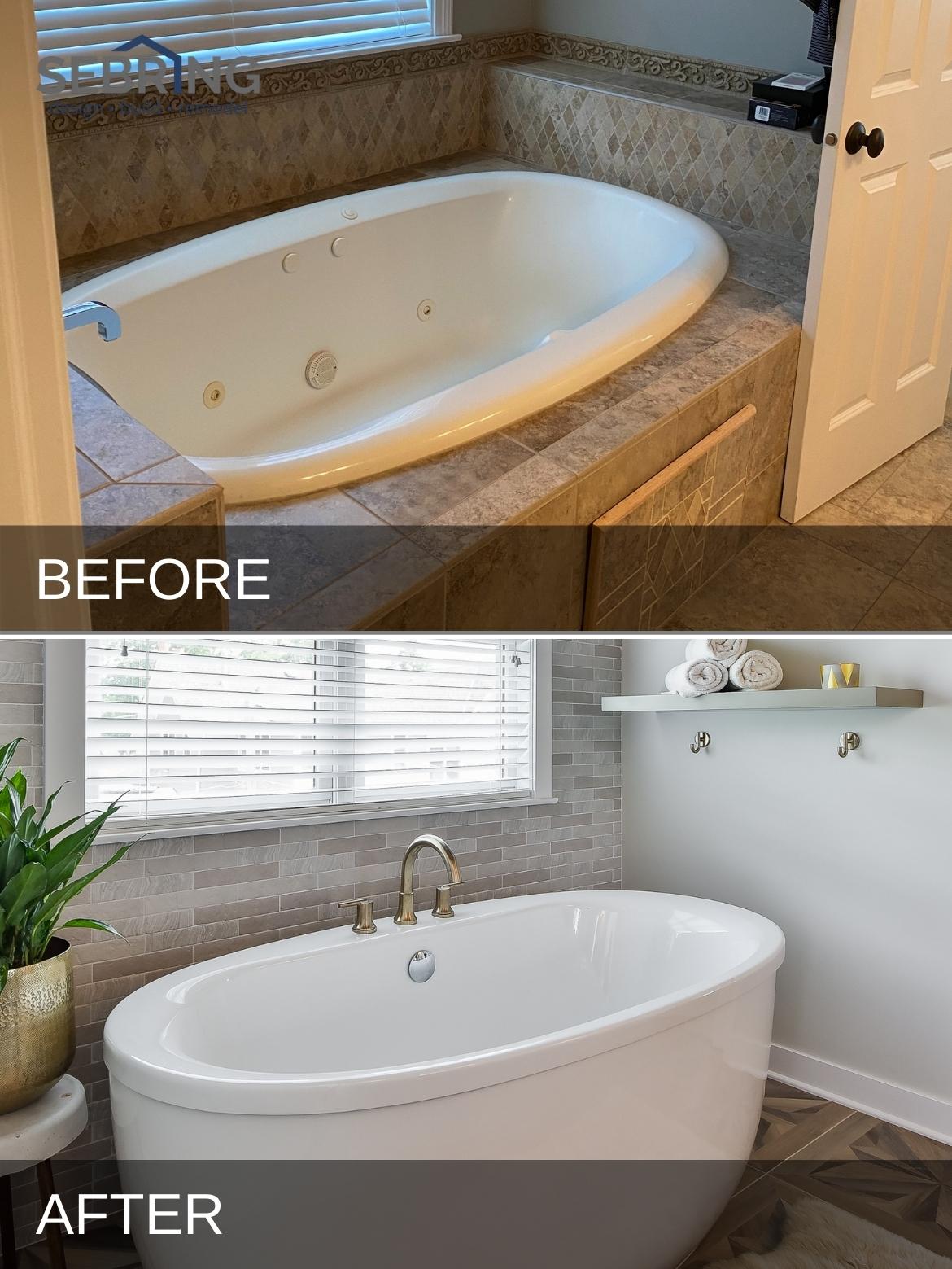 Glen Ellyn Unique Bathroom B&A