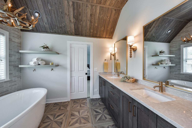 Glen Ellyn Unique Master Bathroom