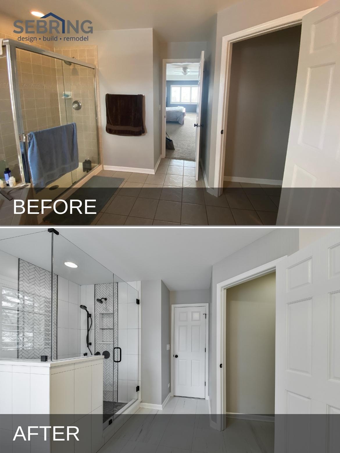 Modern Elmhurst Bathroom B&A