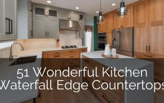 Wonderful Kitchen Waterfall Edge Countertops - Sebring Design Build